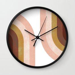 Double Vintage Rainbow Wall Clock
