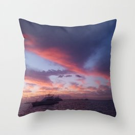 Scorched Sunset Throw Pillow