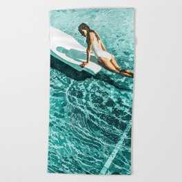 Pool Day #society6 #painting #summer Beach Towel