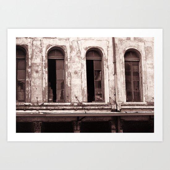 New Orleans Windows Art Print