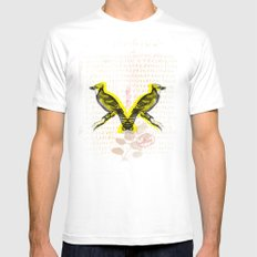 Two Birds Mens Fitted Tee MEDIUM White