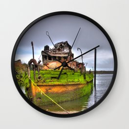 Mary D. Humes at the port of Gold Beach Wall Clock