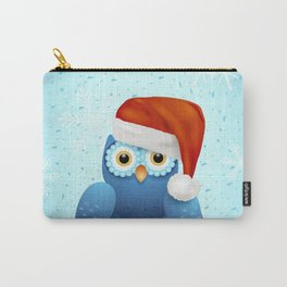 Merry Christmas with owl and Santa hat Carry-All Pouch