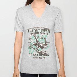 The Sky Driver Extreme Sports Unisex V-Neck