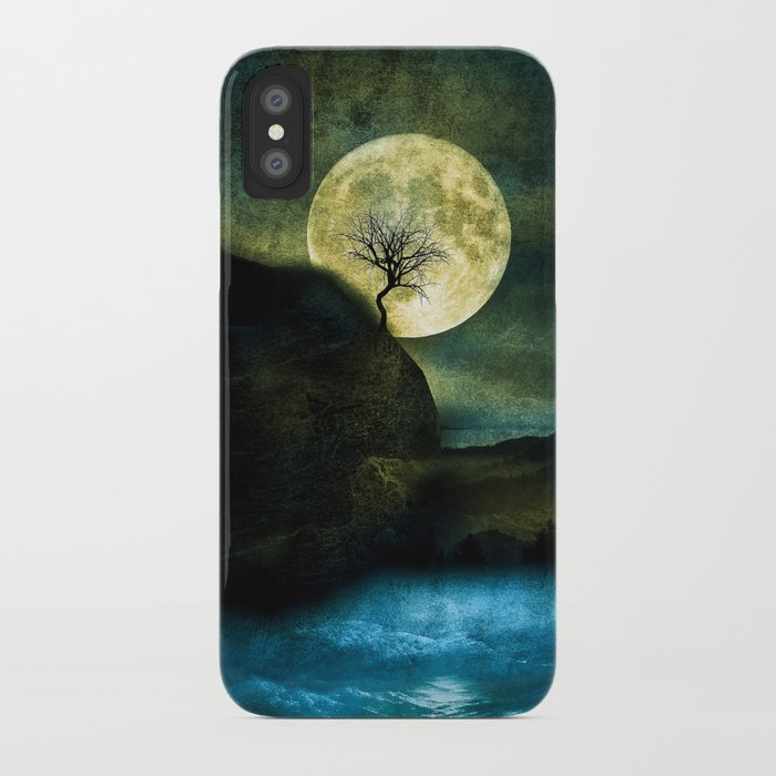 The Moon and the Tree. iPhone Case