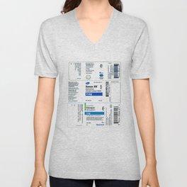 Drug Labels Unisex V-Neck