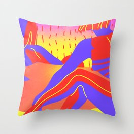 Sunset in the desert of the real Throw Pillow