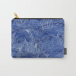 Coral Reef - Indigo Carry-All Pouch