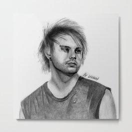 MC Pencil Portrait Metal Print