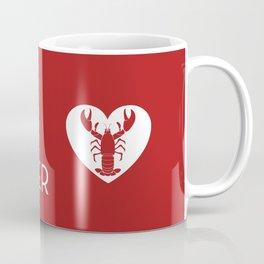 He's My Lobster - Dark Red Coffee Mug