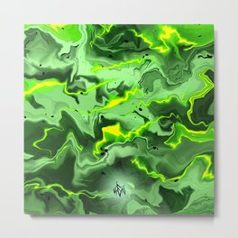 """""""REACTOR"""" Marble Abstract Design Metal Print"""