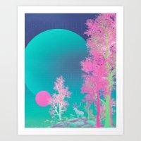SUMMER MOON (everyday 05.27.17) Art Print
