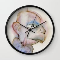 the dude Wall Clocks featuring Dude by Zorko