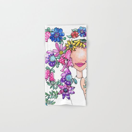 Flowers in Her Hair Hand & Bath Towel