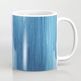 abstract blue rain Coffee Mug