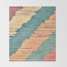 Abstract Shredded Stripes Throw Blanket