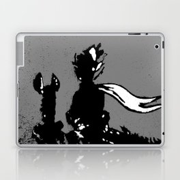 The LITTLE PRINCE and the FOX quote - stencil - grey version Laptop & iPad Skin