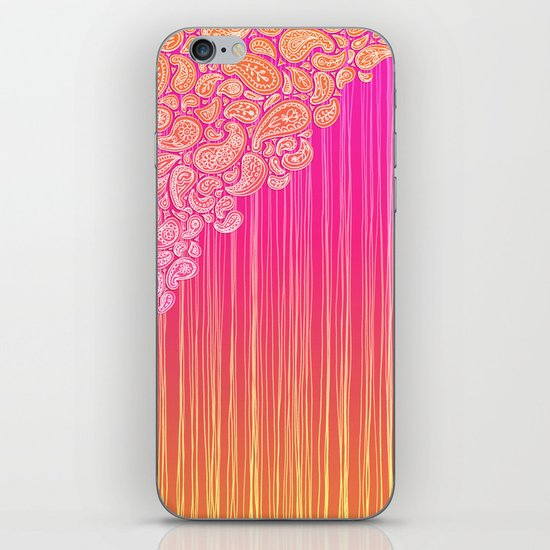 The Unraveling of Paisley Lace (in ombre pink and gold) iPhone & iPod Skin