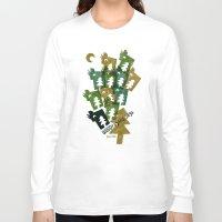 saga Long Sleeve T-shirts featuring Woodragons Saga by Teesha Toosha