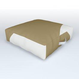 Diamond Series Round Checkers White on Gold Outdoor Floor Cushion