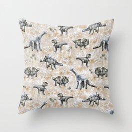 Rocksaurs Throw Pillow