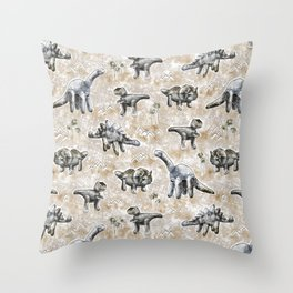 Rocksaurs Throw Pillow