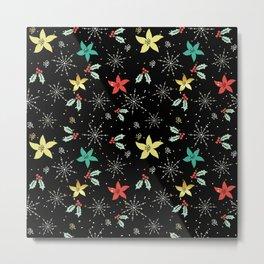 Cute Christmas Pattern Metal Print