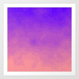 Pink and Purple Ombre - Swirly - Flipped Art Print