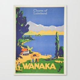 Vintage poster - Wanaka Canvas Print