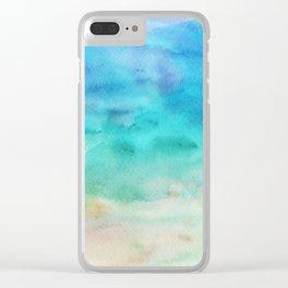 Beach Bound Clear iPhone Case