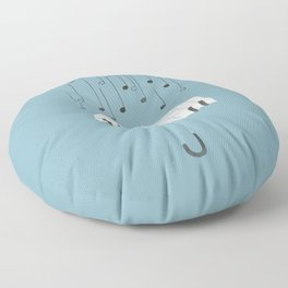 Singing in the rain Floor Pillow