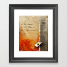 Only time separates Framed Art Print