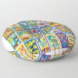 animal alphabet for kids Floor Pillow