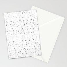 Silver Stars Reach Stationery Cards