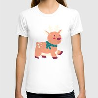 reindeer T-shirts featuring Reindeer by Claire Lordon