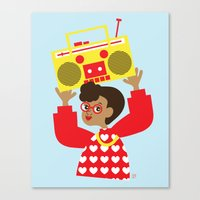 transistor Canvas Prints featuring Trini Transistor  by The Pairabirds