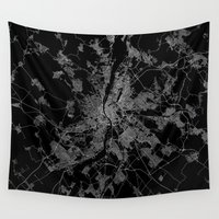 budapest Wall Tapestries featuring Budapest by Line Line Lines