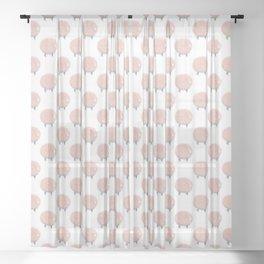 Sweet Dreams Cotton Candy Sheep Sheer Curtain