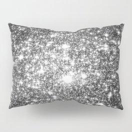 Black Slate Sparkle Stars Pillow Sham