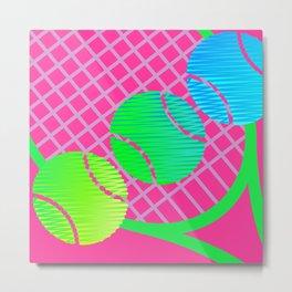 Scribblez on pink -- far out! Metal Print