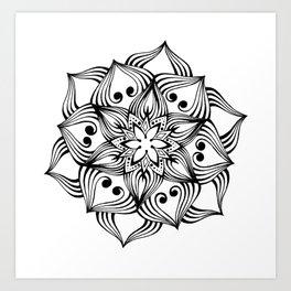 MandalArt Flower Art Print