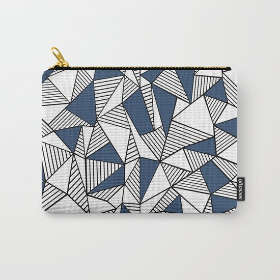 Abstraction Lines with Navy Blocks Carry-All Pouch
