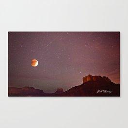 Blood Moon Eclipse over Sedona Canvas Print
