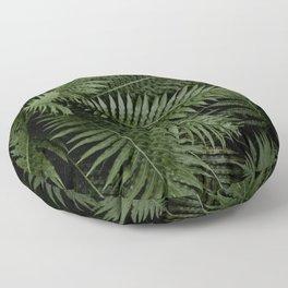 Tropical leaves 02 Floor Pillow