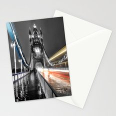 Tower Bridge at night Stationery Cards