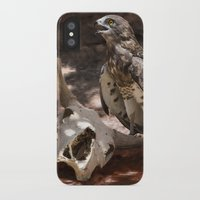 hawk iPhone & iPod Cases featuring Hawk by Veronika