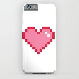 Pink Pixel Heart Love iPhone Case