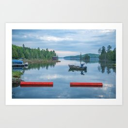 Palmerston Lake Art Print