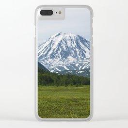 Volcanoes of Kamchatka Peninsula - Koryaksky Volcano, Arik and Aag Volcano Clear iPhone Case