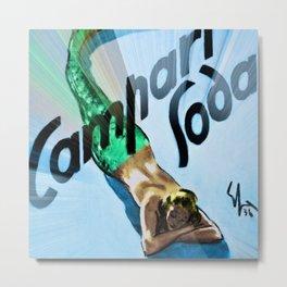 1936 Campari Italian Bitters Aperitif Mermaid Vintage Advertising Poster Metal Print
